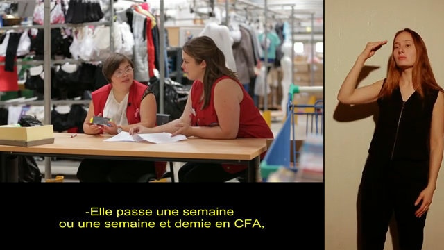 Aude, Apprentie en CAP Vente en alternance, version accessible LSF thumbnail