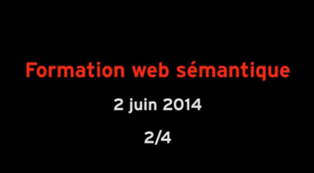 Formation web semantique partie 2/4 thumbnail
