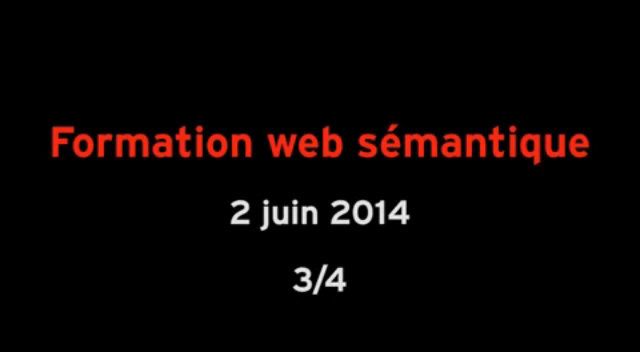 Formation web semantique partie 3/4 thumbnail