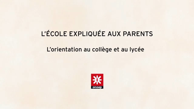 L'école expliquée aux parents-Course choices in secondary and high school thumbnail