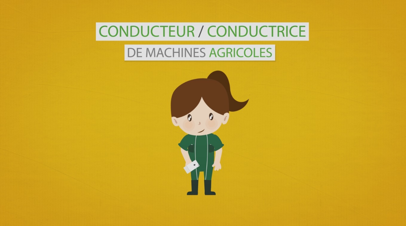 Video : Les métiers animés : Conducteur / Conductrice de machines agricoles