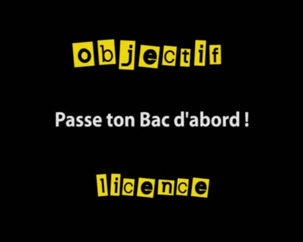 Objectif licence : Passe ton Bac d'abord ! thumbnail